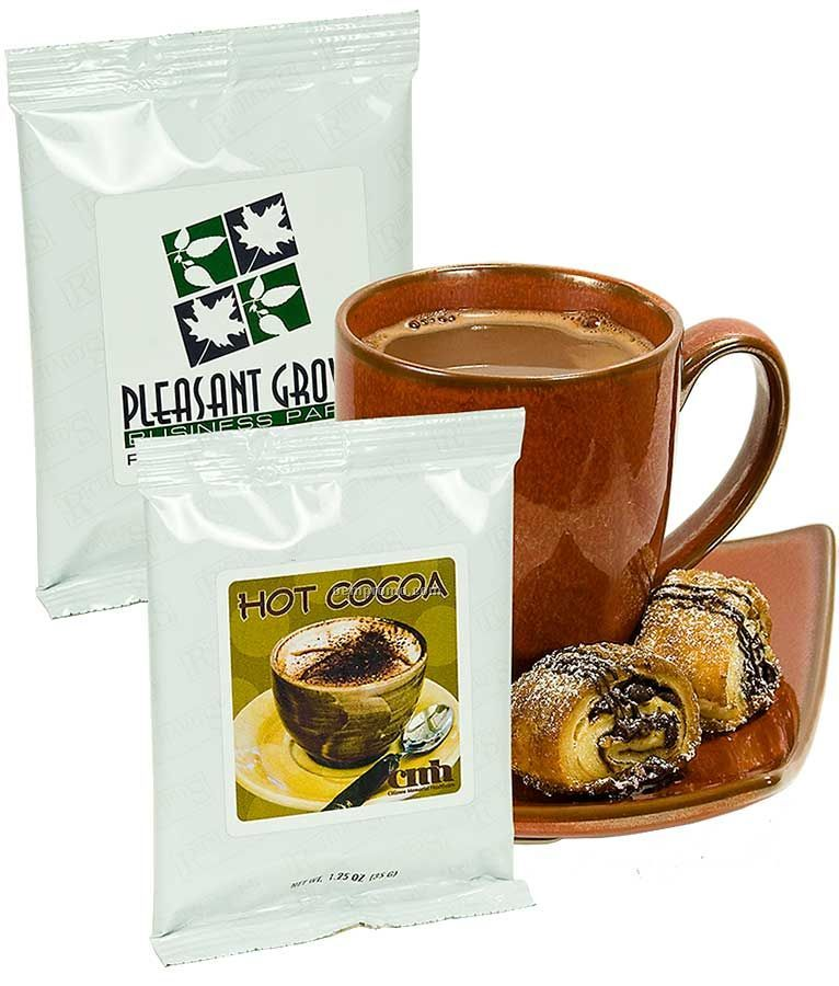 Hot Chocolate W/ White Foil Package (Printed Label)