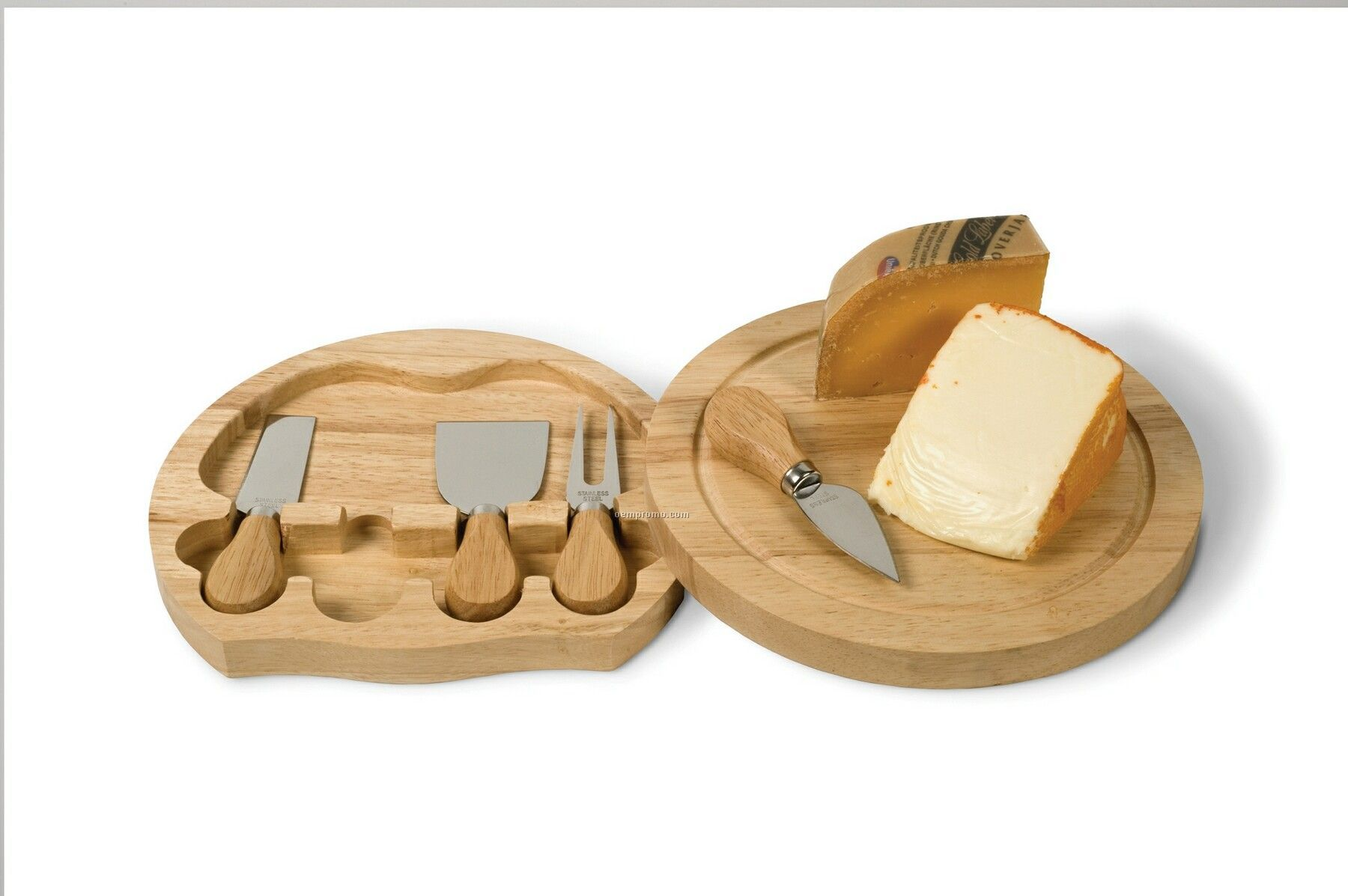 Large Swivel Cheese Board 5 Piece Set
