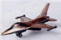 Military Bronze Metal Pencil Sharpener - F-16 Jet Fighter