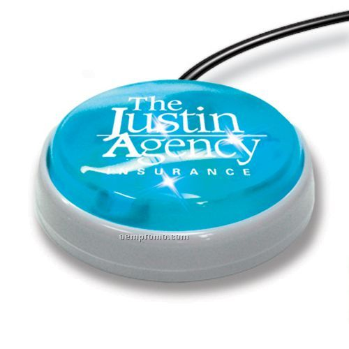 USB Light Up Smart Button For PC (Blue)
