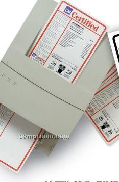 V-t Cre8tive Pre Printed Custom Laser Form W/ Paper Bak (1 Up Per Sheet)