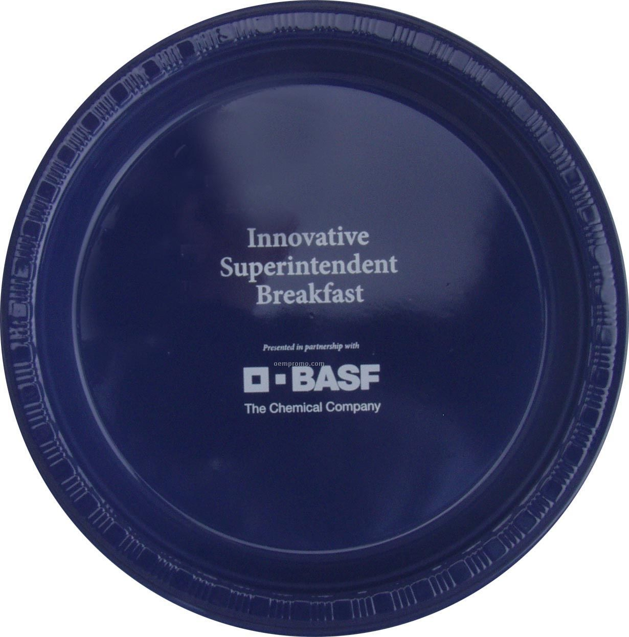 """9"""" Round Navy Blue Colorware Paper Plate"""