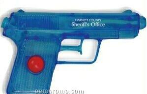 Blue Plastic Water Gun (Printed)