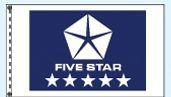 Stock Dealer Logo Flags - Five Star Blue (3'x5')