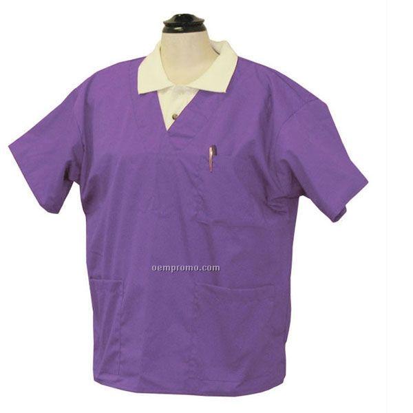 Unisex Deluxe Scrub Top W/ Short Sleeve