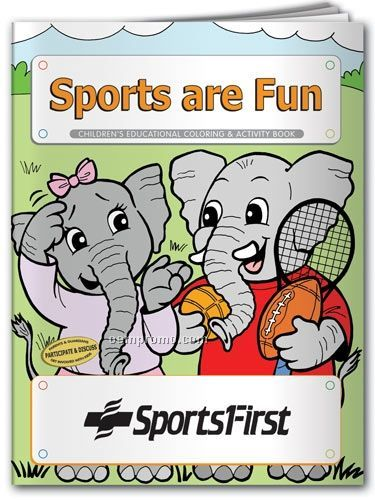 Action Pack Coloring Book W/ Crayons & Sleeve - Sports Are Fun