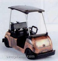 Bronze Metal Pencil Sharpener - Golf Cart