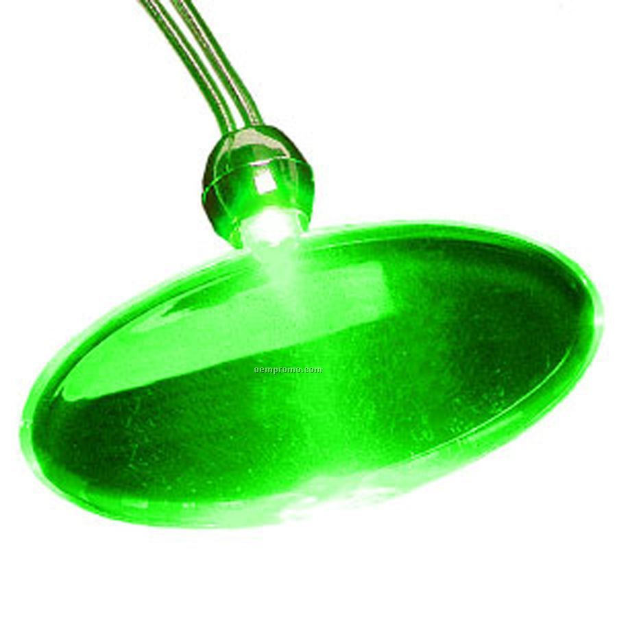 Green Oval Light Up Pendant Necklace