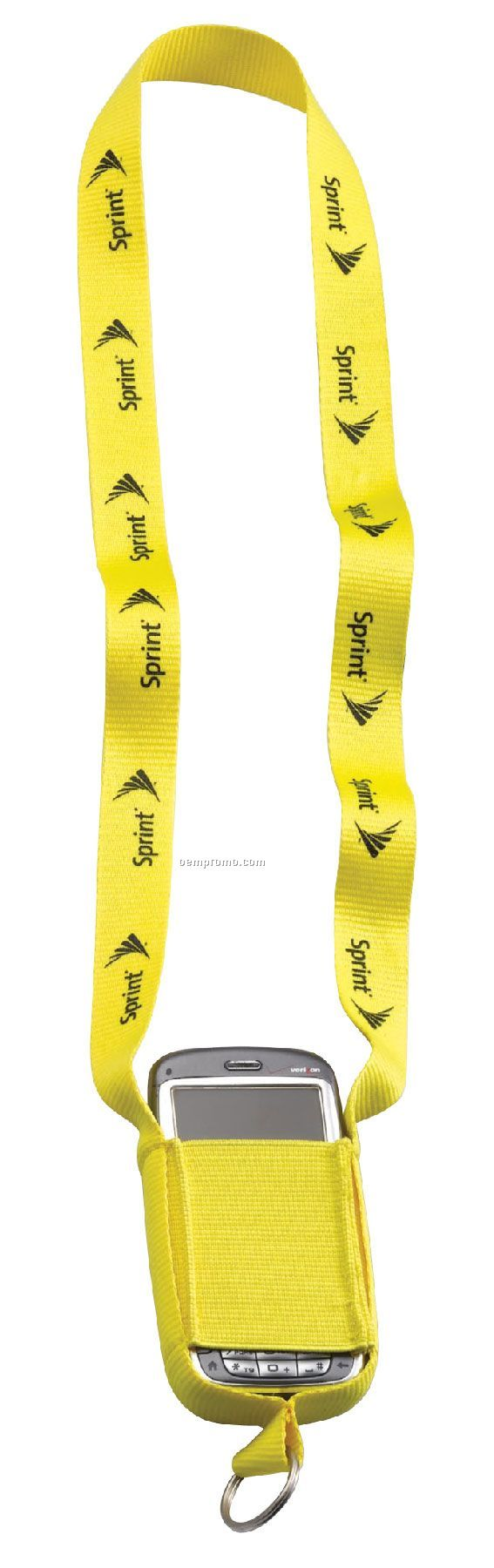 "3/4"" Polyester Cell Phone Lanyard With Metal Split Ring"