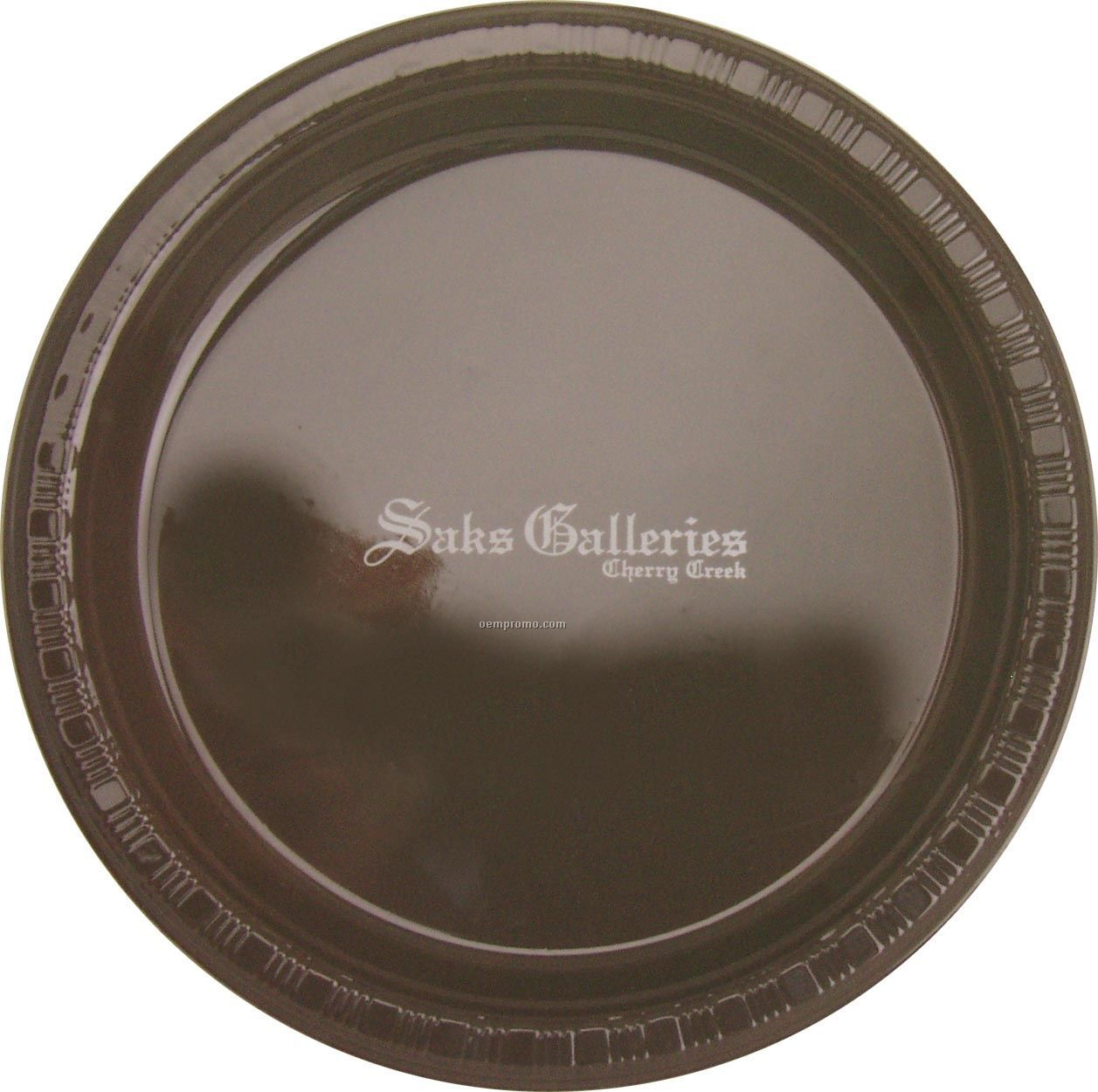 "Colorware 9"" Chocolate Brown Plastic Plate"