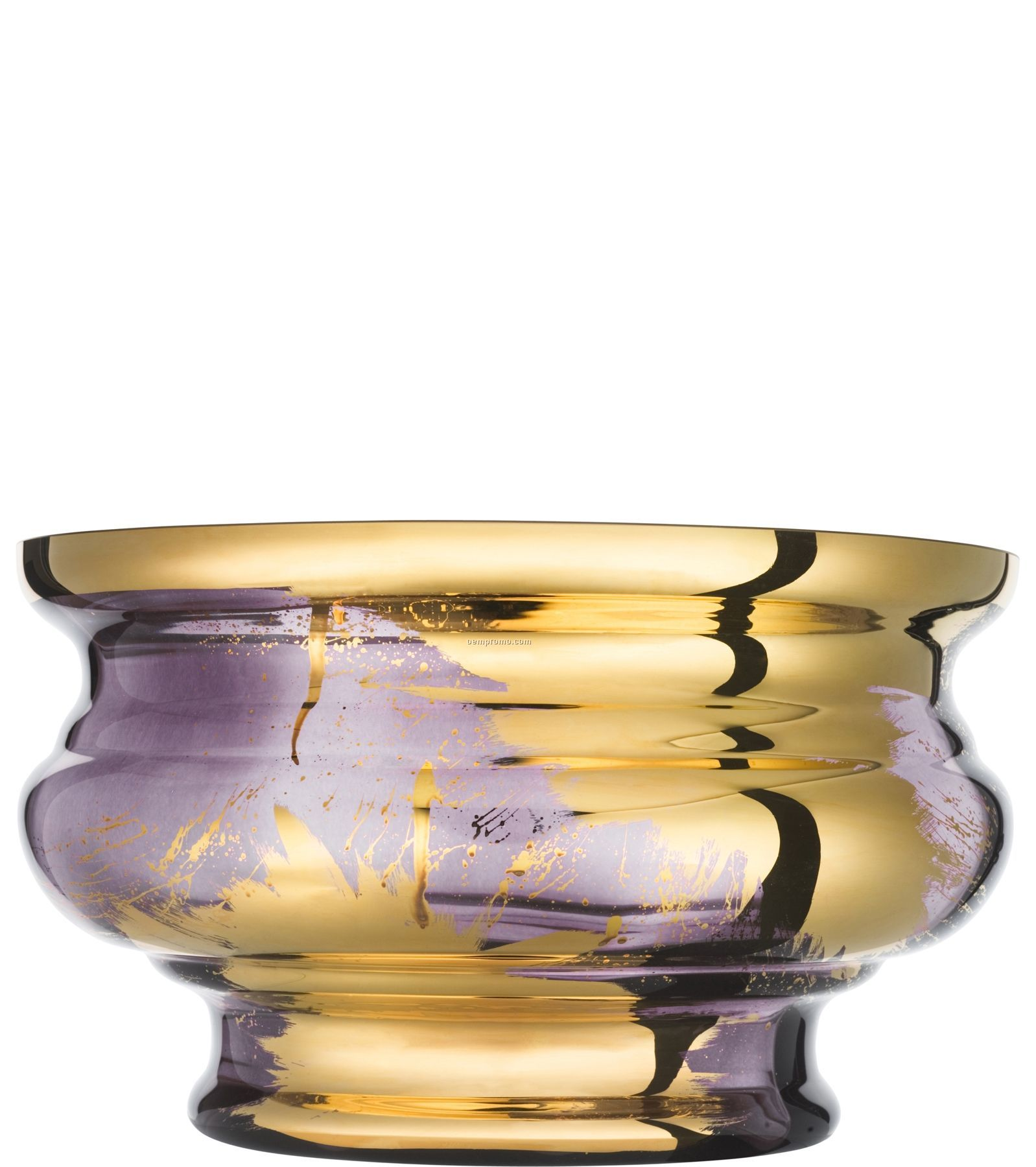 Jackie Hand Painted Glass Bowl By Asa Jungnelius (Aubergine)