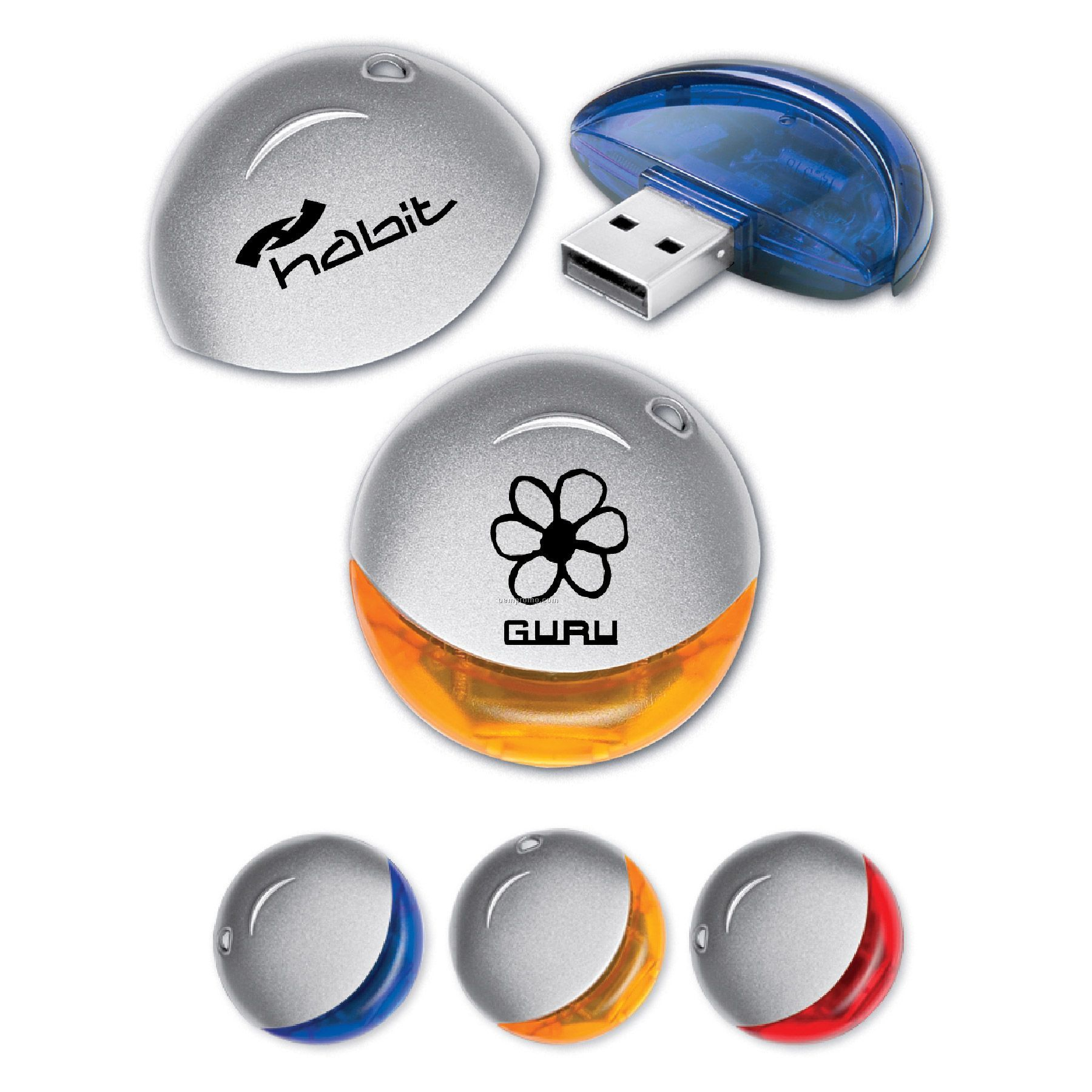 USB 2.0 Orbit Flash Drive Or