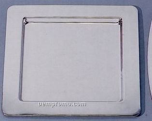 """12"""" Silver Square Tray"""
