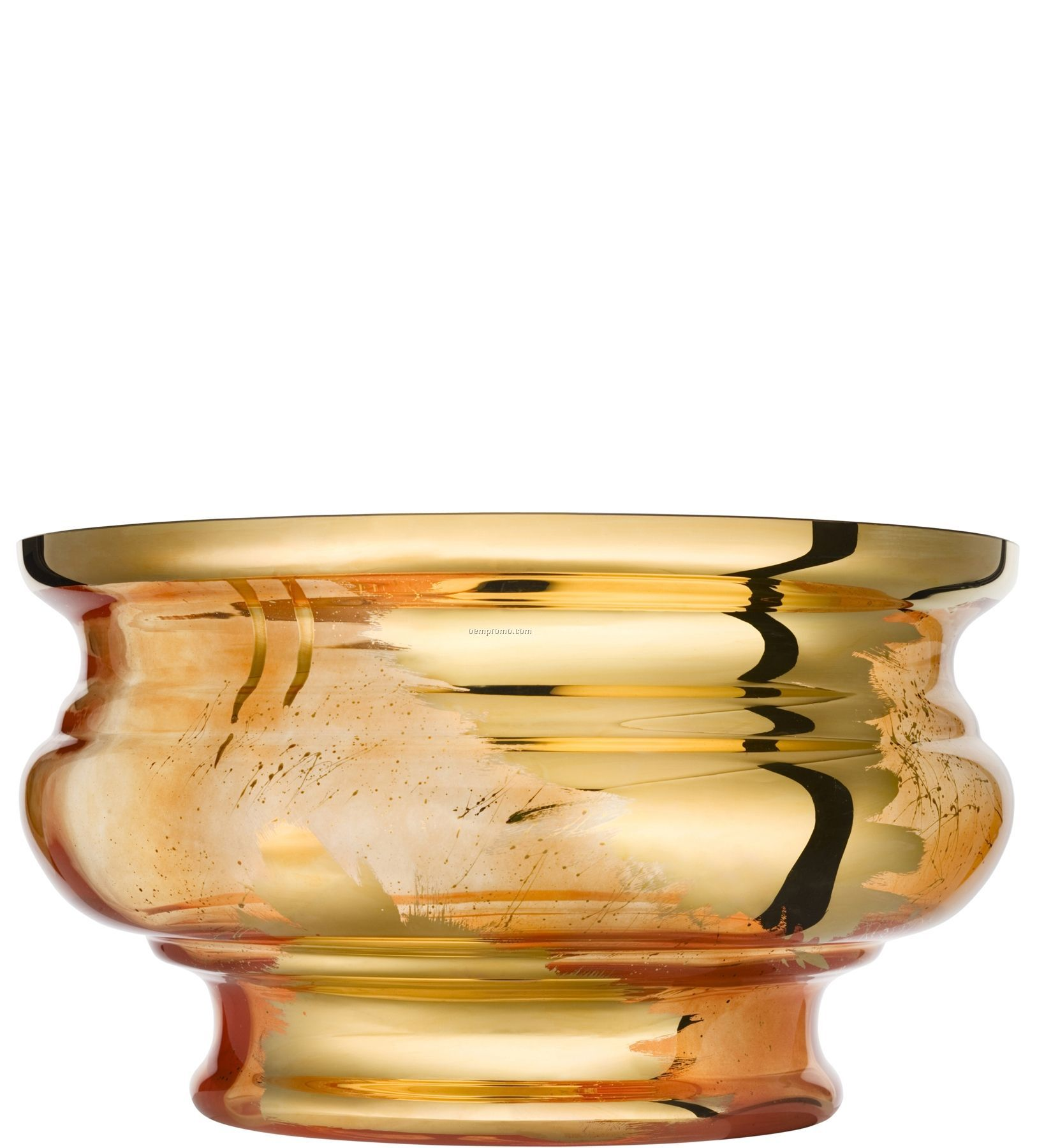 Jackie Hand Painted Glass Bowl By Asa Jungnelius (Orange)