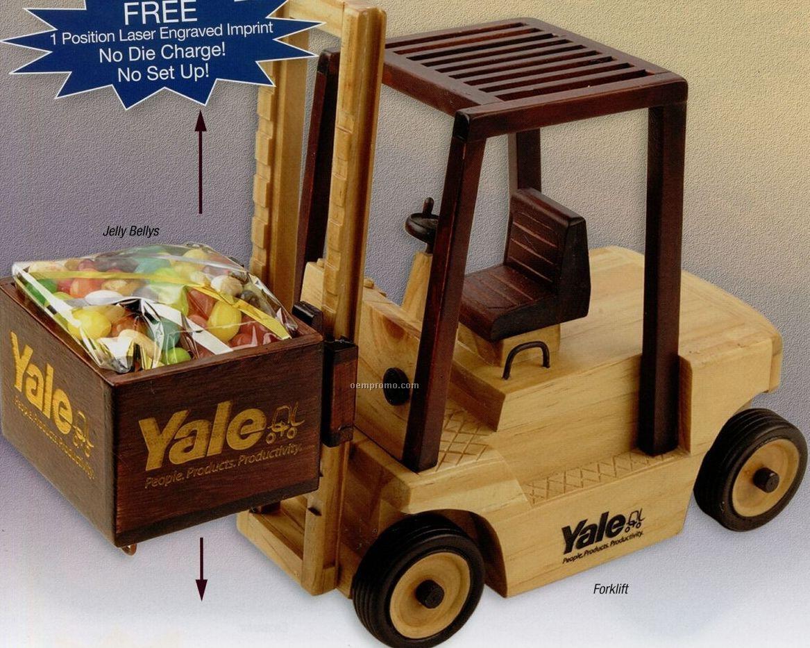 Wooden Forklift W/ Cinnamon Almonds