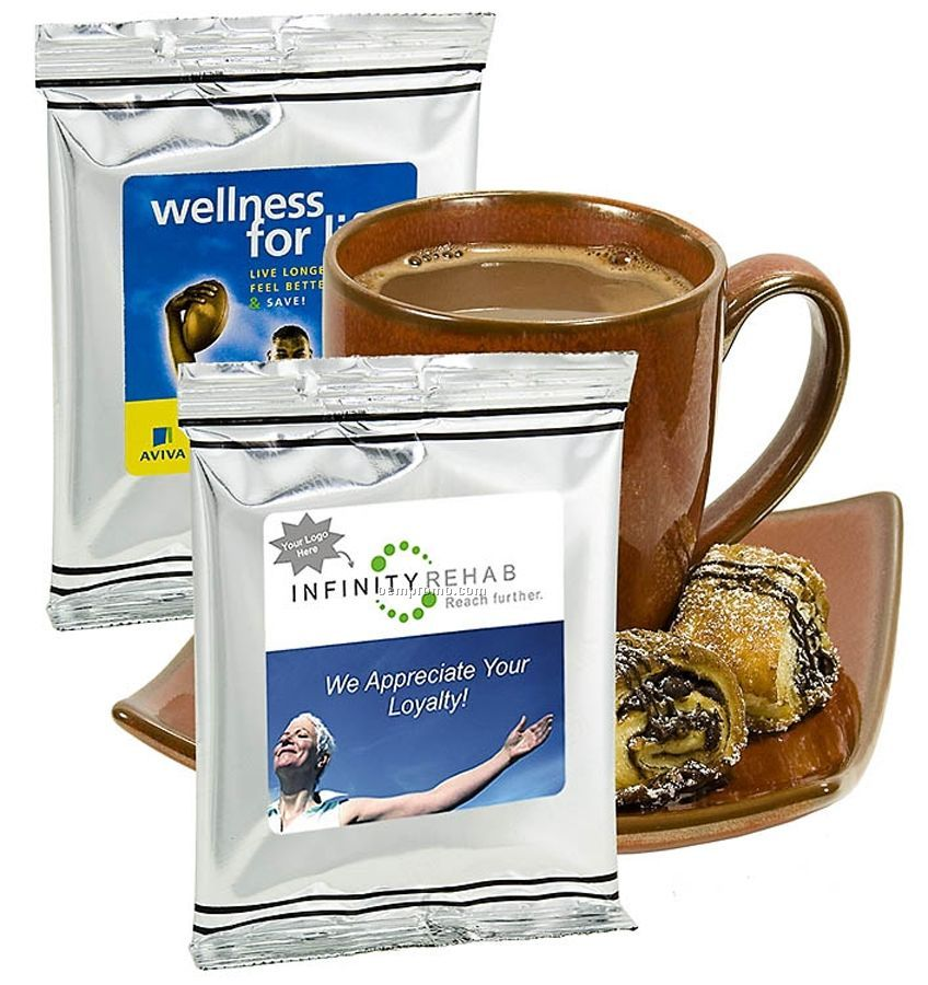 Healthcare Hot Chocolate W/ Silver Foil Packing (Printed Label)