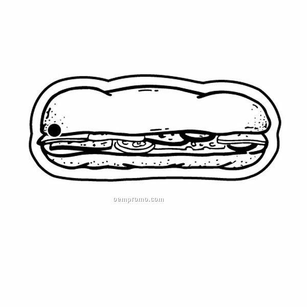 Stock Shape Collection Sub Sandwich Key Tag