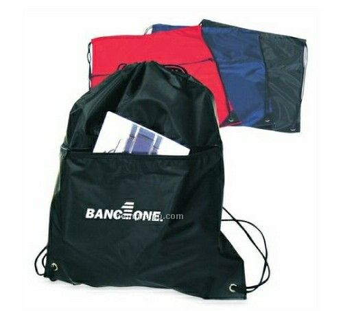 Flat Drawstring Backpack