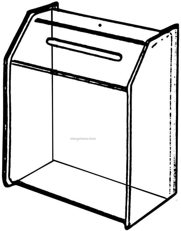 "Large Clear Acrylic Ballot Box (4"" Deep)"