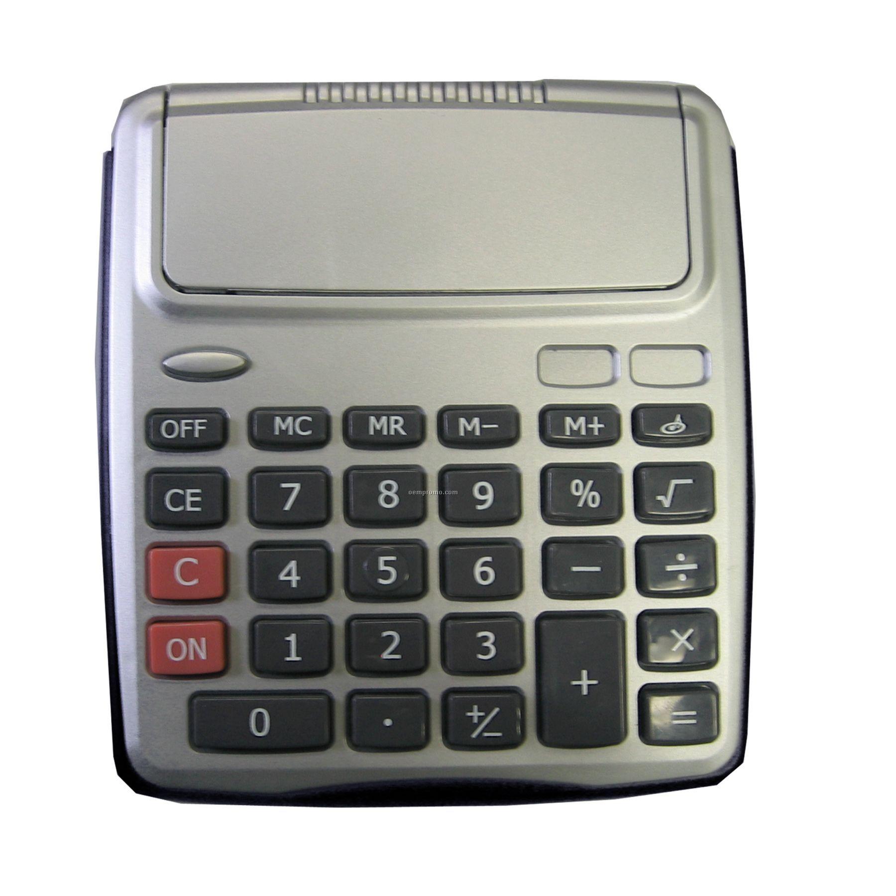 Large Push Button Flip Cover Desk Top Calculator