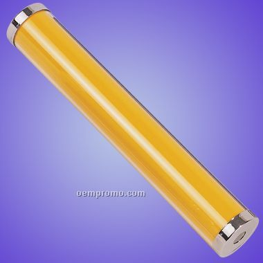 Yellow Acrylic Kaleidoscope W/ Chrome Plated Ends (Screened)