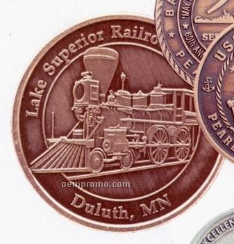 """1-9/16"""" 12 Gauge Bright Copper Coins & Medallions"""