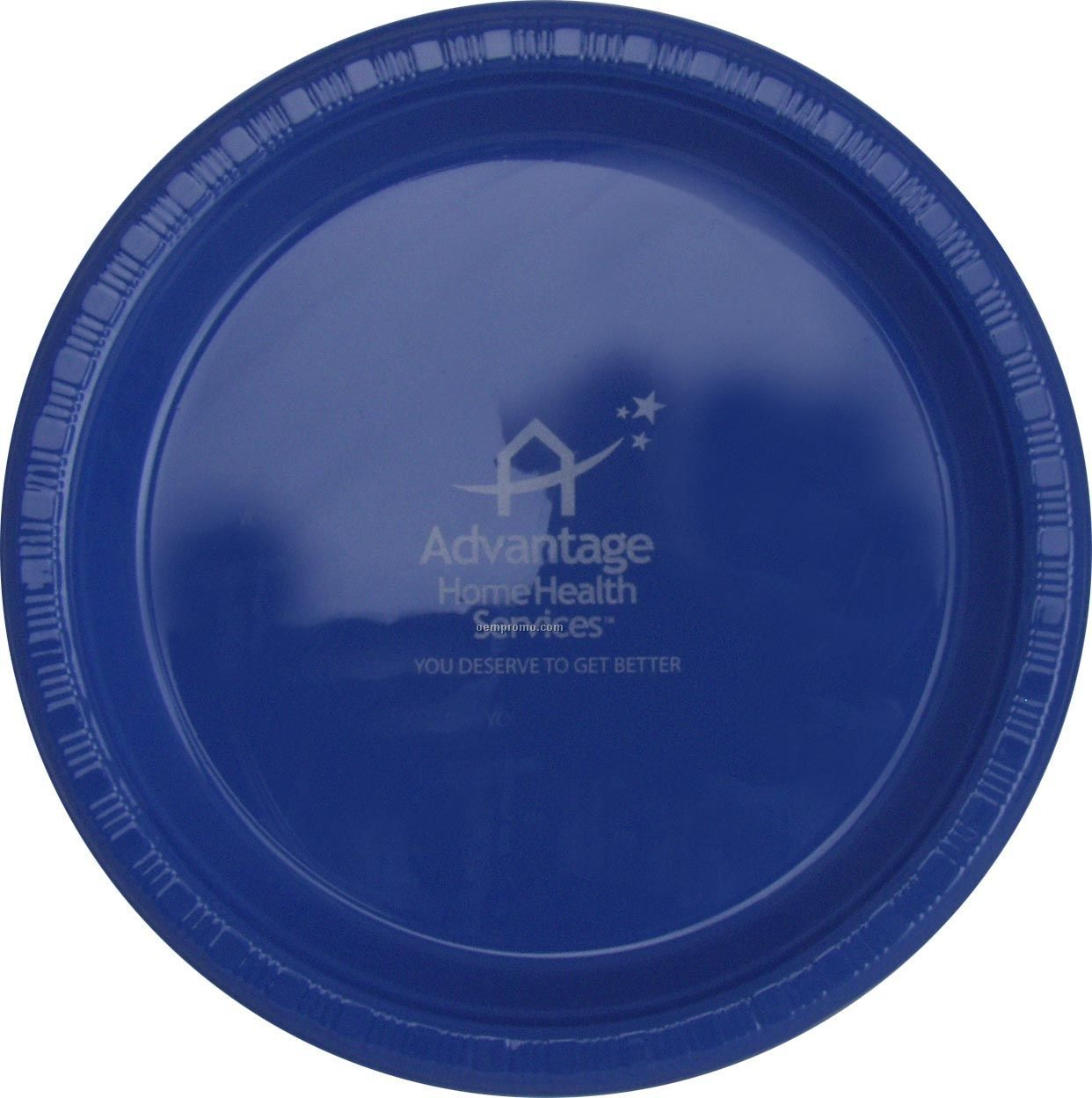 "9"" Round True Blue Colorware Paper Plate"