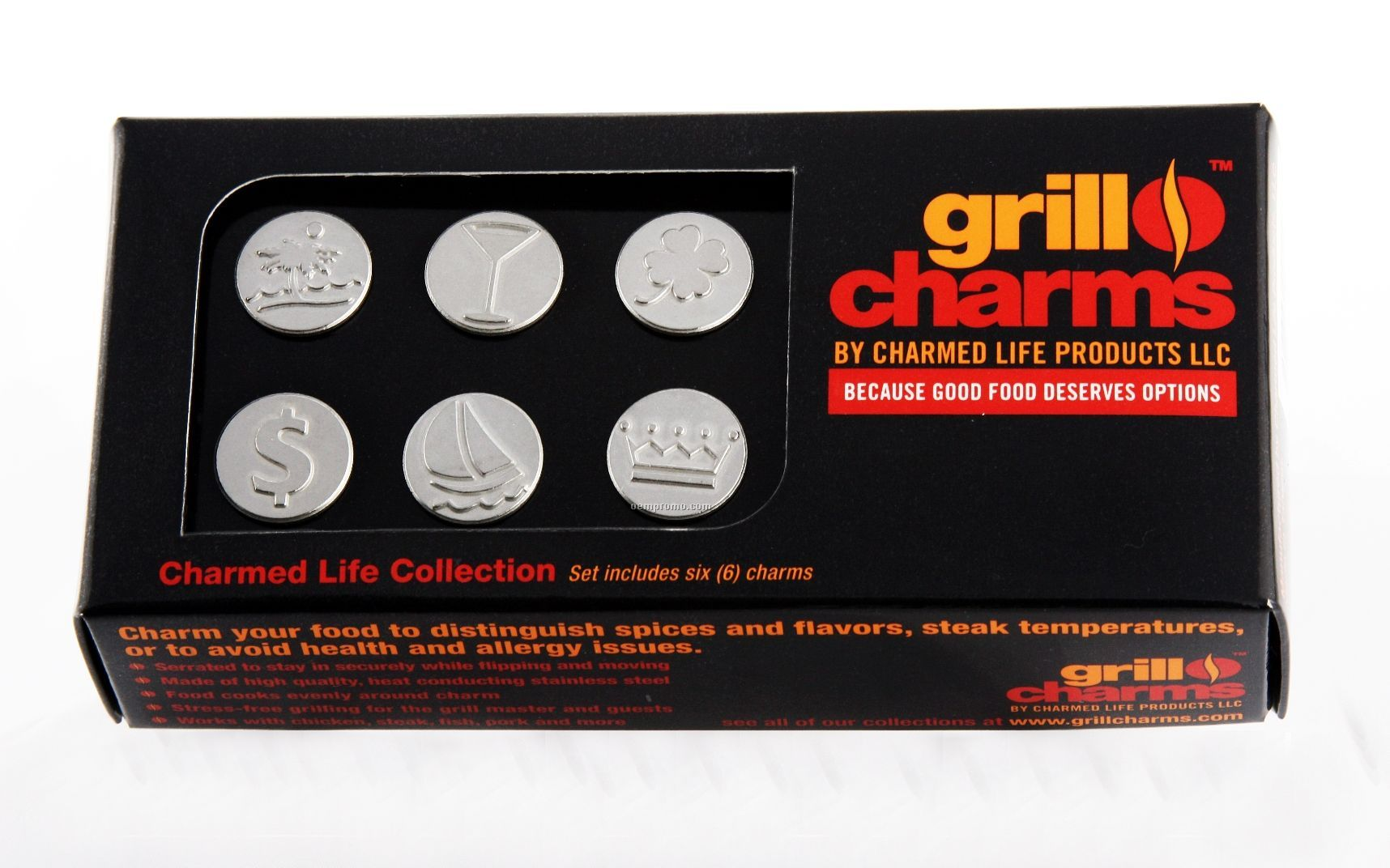 Blank Charmed Life Collection Grill Charms