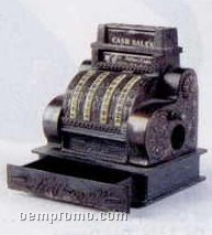 Early American Bronze Metal Pencil Sharpener - Cash Register