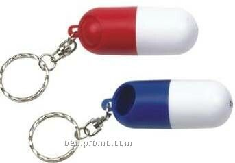 Key Chain W/ Pill Shaped Container