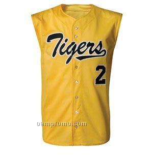 N4118 Sleeveless Adult Baseball Shirt