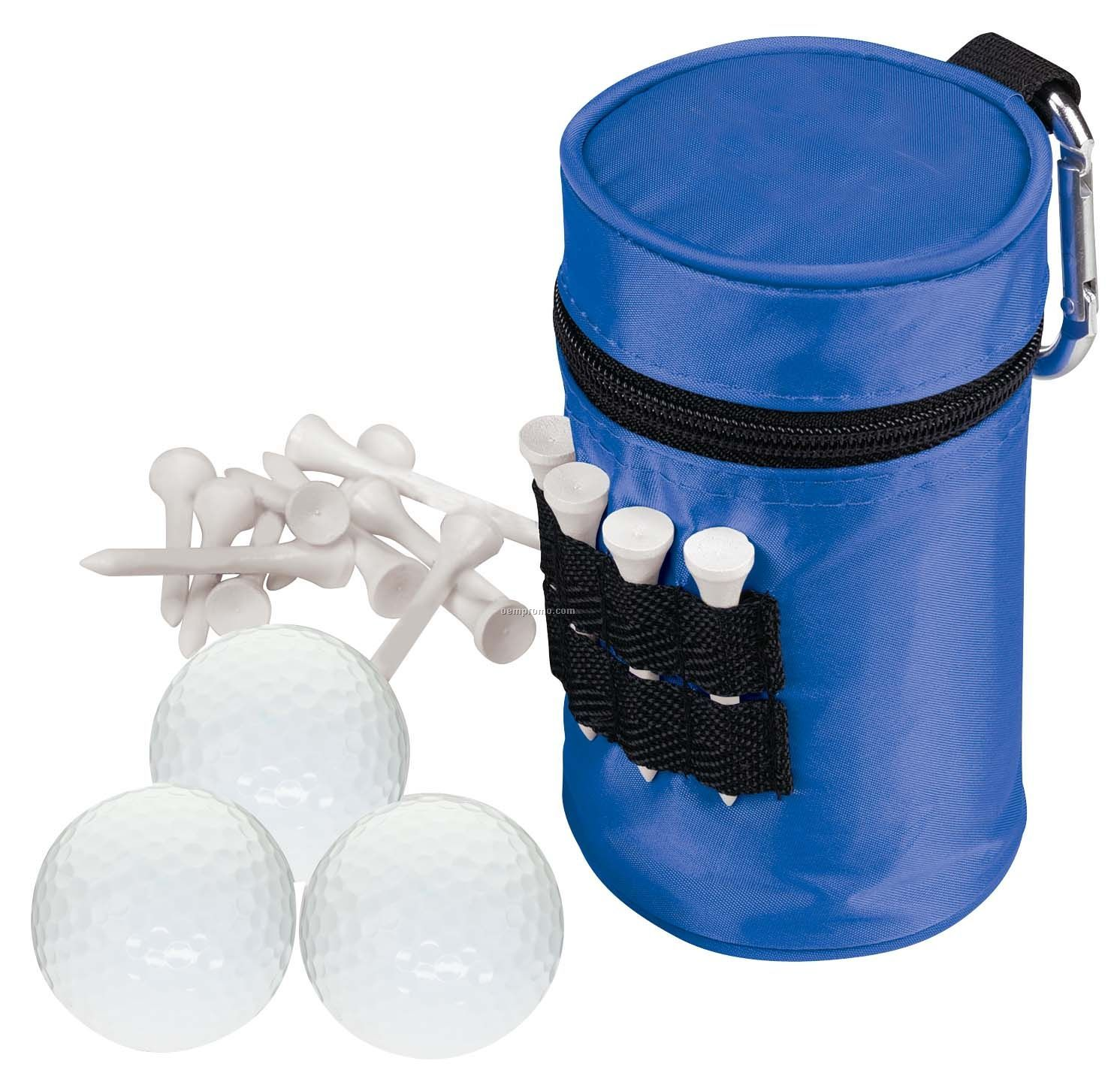 Tee Off Mulligan Can Cooler W/ 3 Titleist Dt Solo Golf Balls & 15 Tees