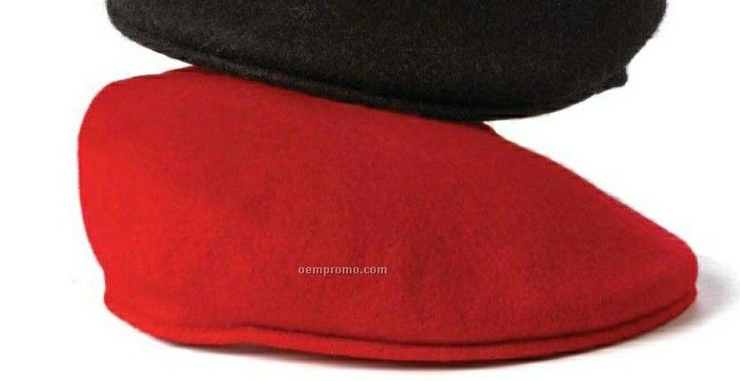 Wolfmark Black 100% Wool Urban Cap