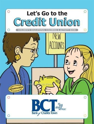 Action Pack Coloring Book W/ Crayons & Sleeve- Let's Go To The Credit Union