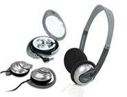 Combo 3-in-1 Lightweight Headphone / Ear Clip / Stereo Earphone
