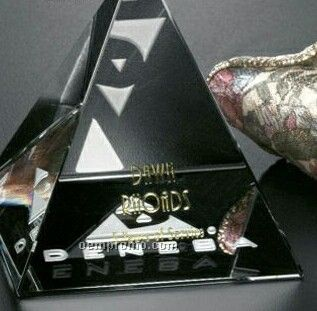 "Pristine Gallery Crystal Pyramid Award (3 3/4"")"