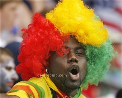 Soccer Fans Wig (Afro Hair Style)