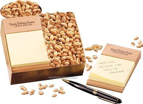Beech Sticky Note Holder W/ Choice Virginia Peanuts