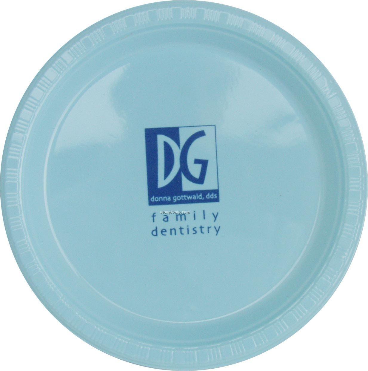 "Colorware 9"" Pastel Blue Plastic Plate"