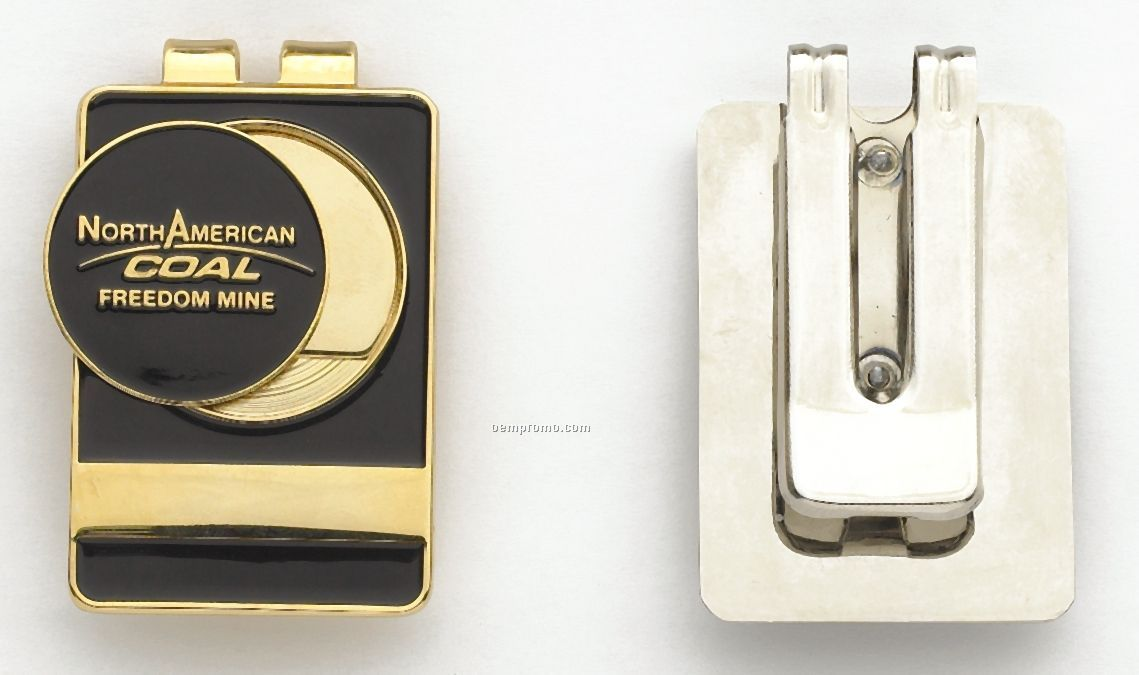 """Deluxe Money Clip With 1"""" Magnetic Ball Marker"""