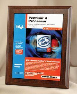 """Four Color Process Rectangle Plaque W/ Gold Tone Plate (5""""X7"""")"""