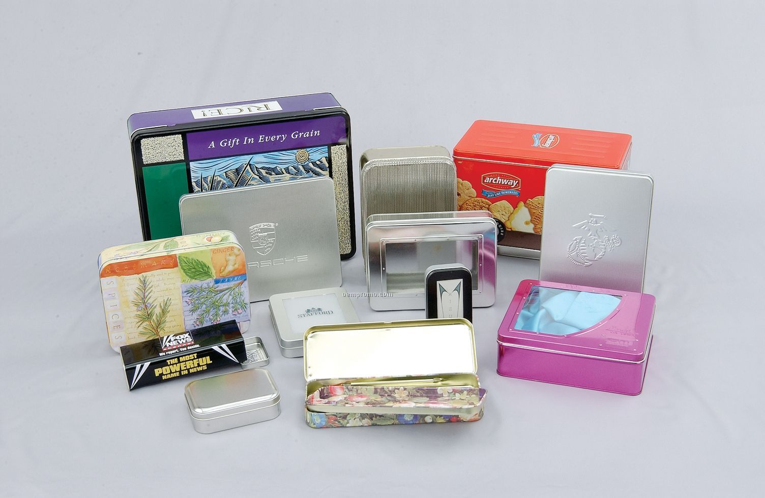 Variety Of Custom Tins