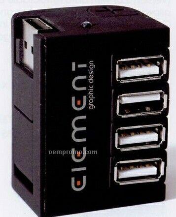 Compact Style Mini-tower 4 Port USB Hub