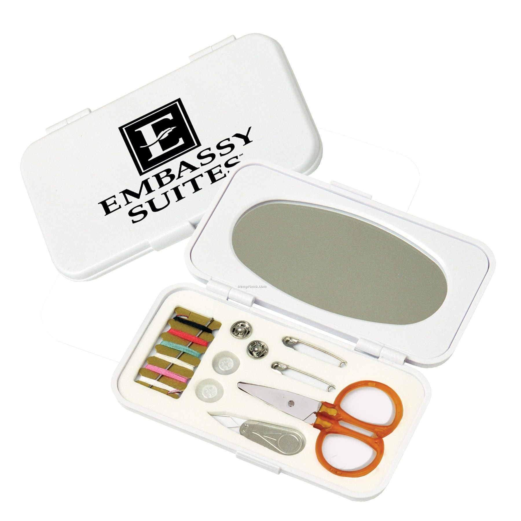 Deluxe Sewing Kit In Mirrored Case