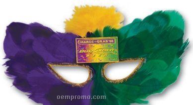Imprinted Mardi Gras Fanci-feather Mask Assortment