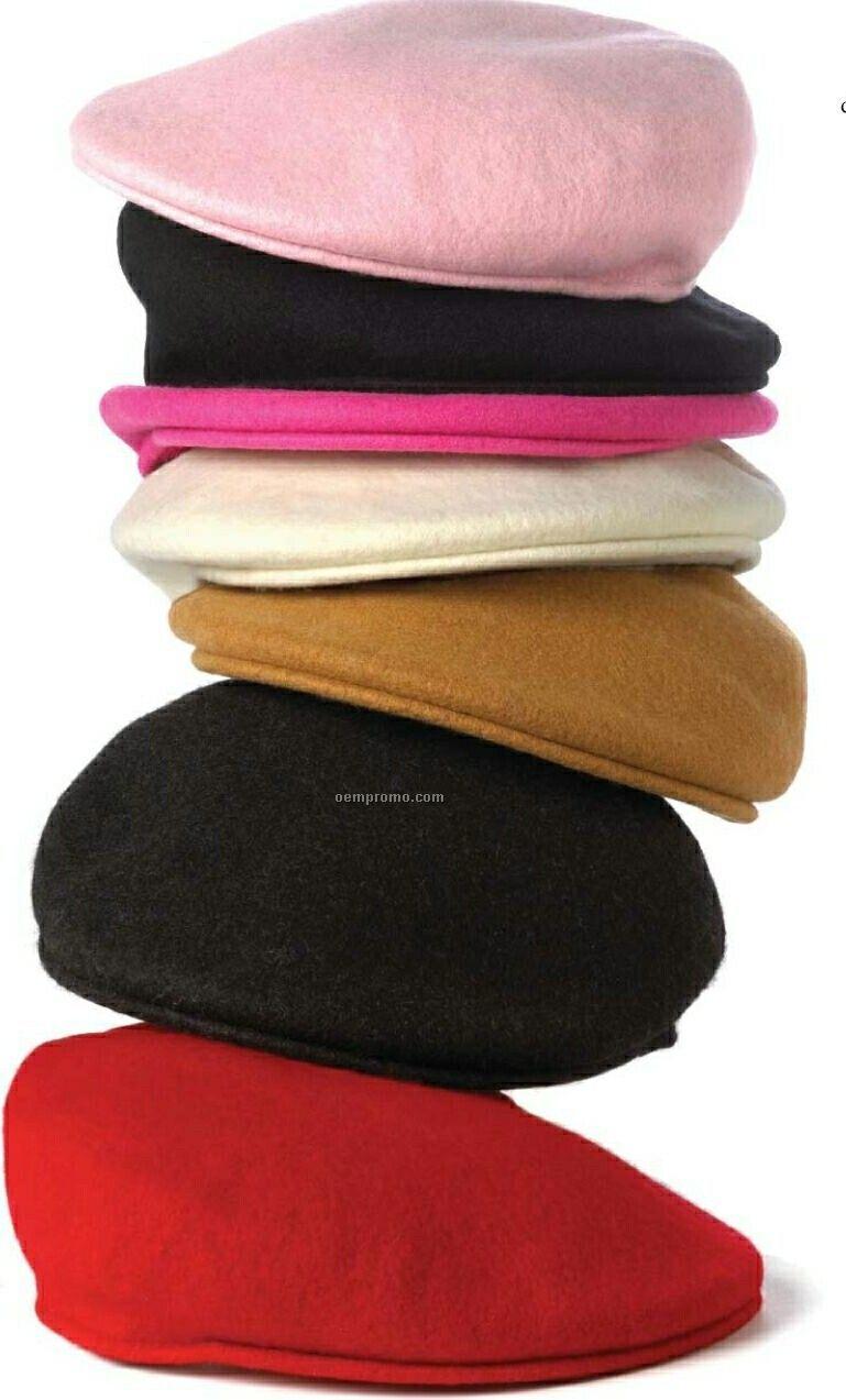 Pink 100% Wool Urban Cap