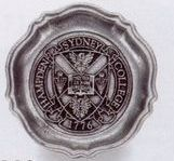 """4-1/4"""" Custom Crested Queen Anne Pewter Coaster/ Ashtray (Matte)"""