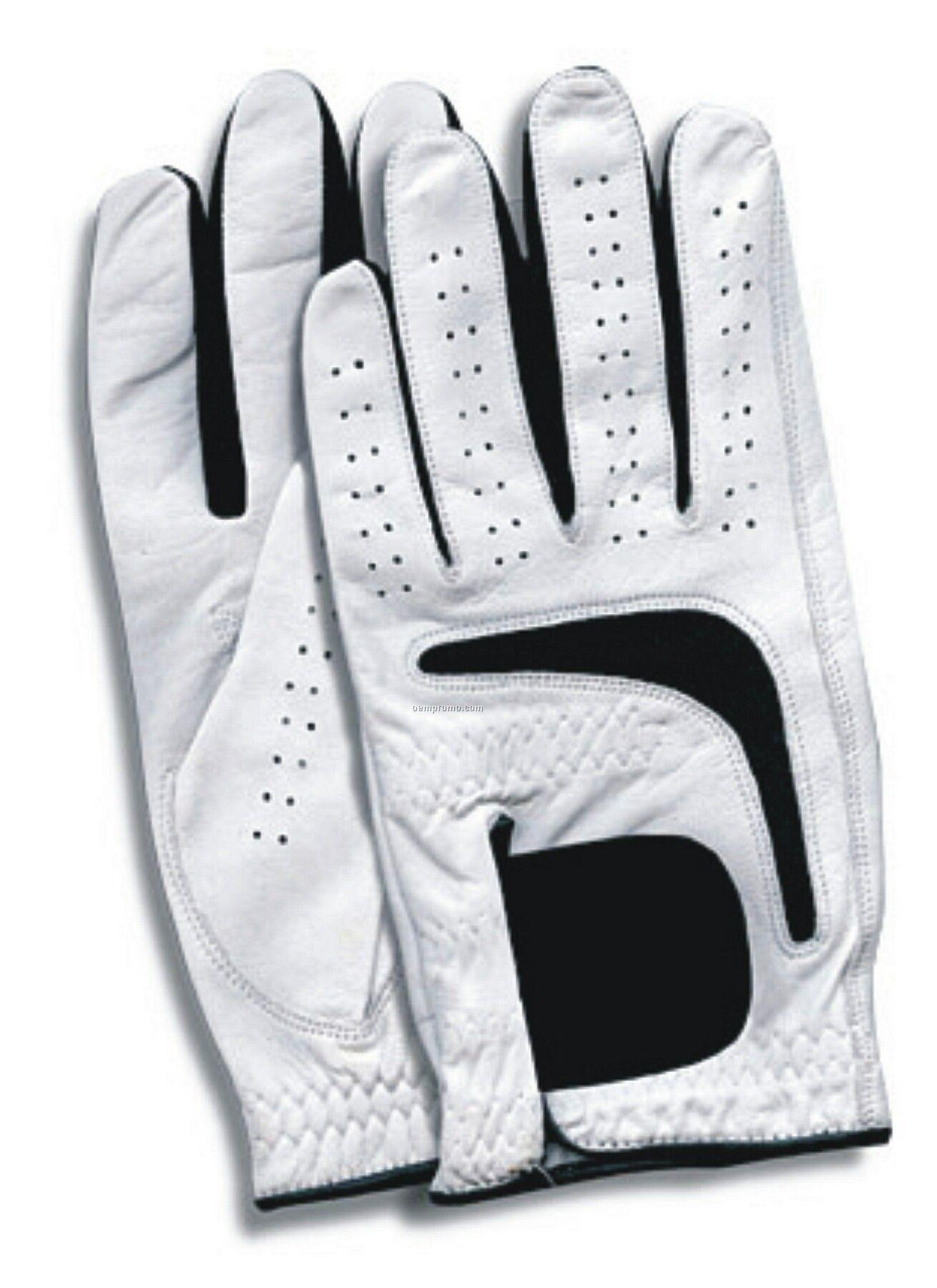 Black leather golf gloves -  Cabretta Leather Golf Gloves Reviews Gloves