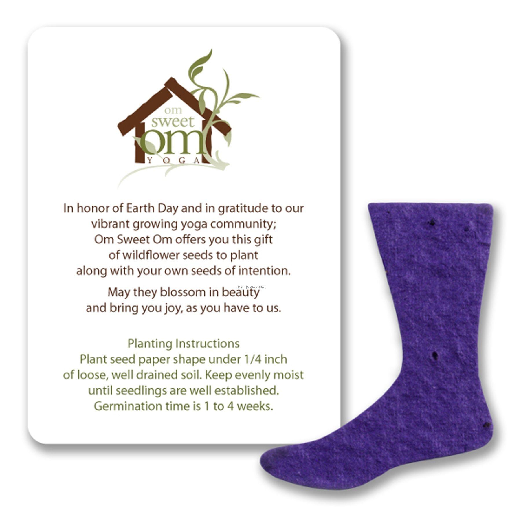 Mini Sock Shape Seed Paper Gift Pack