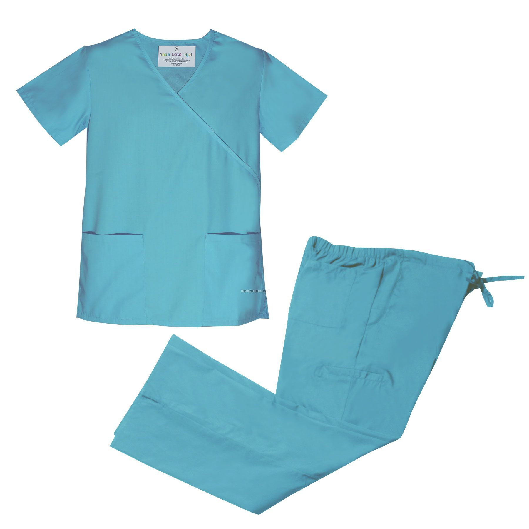 Mock Wrap Scrub Set (Xs-xl)
